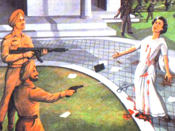 The site of Indira Gandhi's assassination